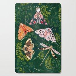 Moths and dragonfly Cutting Board