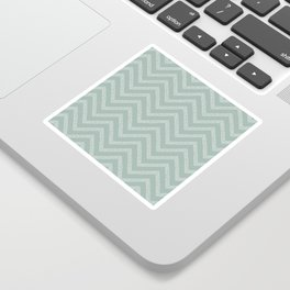 Sketched Blue Dotted Line Chevrons Sticker