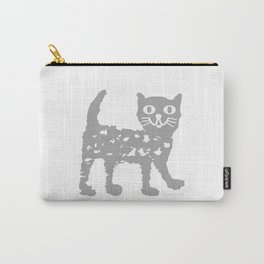 Gray cat pattern Carry-All Pouch