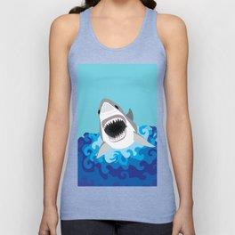 Great White Shark Attack Unisex Tank Top