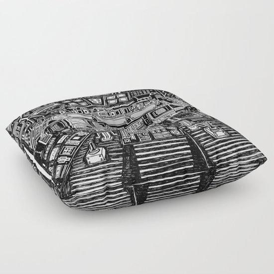 Lost cabin 666 Floor Pillow