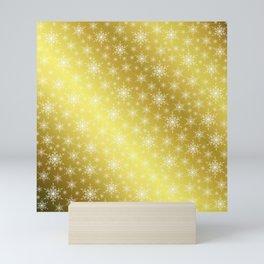 gold,white,star, stars, Christmas + Sample, colored, elegant, festive, snowflake, graphic, Mini Art Print
