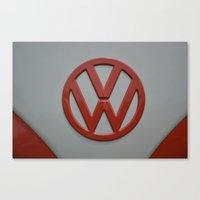 volkswagen Canvas Prints featuring VOLKSWAGEN by OSSUMphotos
