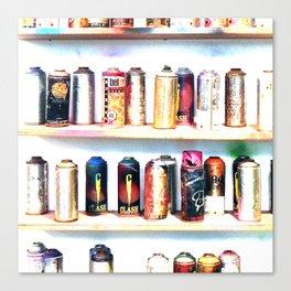 Spray Cans - United Kingdom Canvas Print