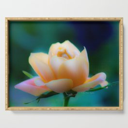 Dreamy Yellow Pinky Rose by CheyAnne Sexton Serving Tray