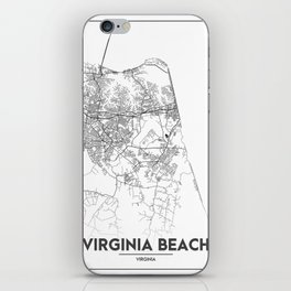 Minimal City Maps - Map Of Virginia Beach, Virginia, United States iPhone Skin