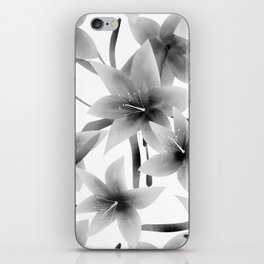 Lily. Black and white pattern . iPhone Skin