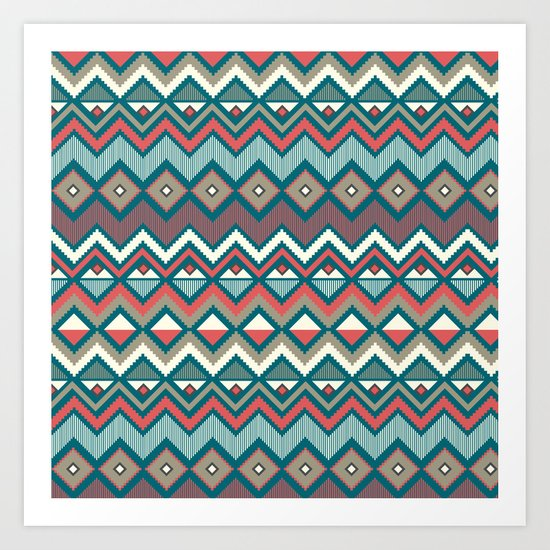 Aztec. Art Print