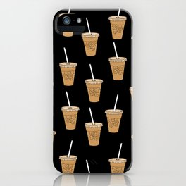 Iced Coffees pattern - food pattern, cute food, iced coffee lover iPhone Case