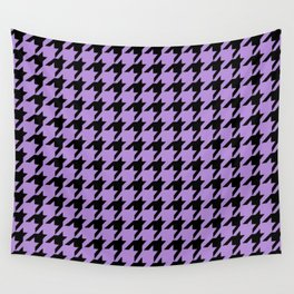 Houndstooth (Black & Lavender Pattern) Wall Tapestry