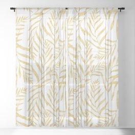 Leaves Golden #society6 #buyart Sheer Curtain