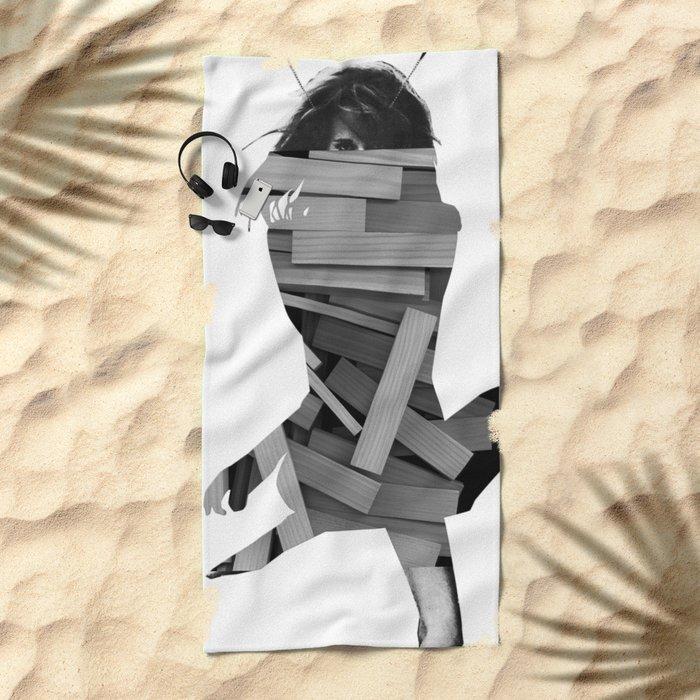 bulid a dream Beach Towel