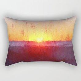 Florida Beach Scene #1 Rectangular Pillow