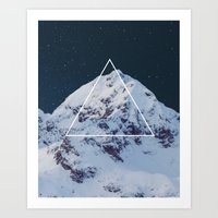 geology Art Prints featuring Geometry vs. Geology by The Confetti Yeti