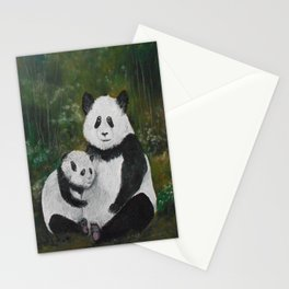 Panda Momma and Baby Stationery Cards