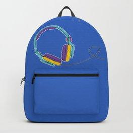 Pop Music Colourful Headphones Backpack