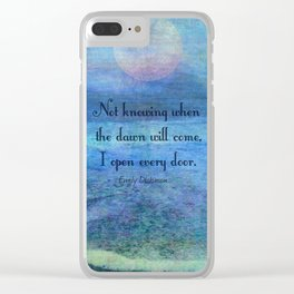 Emily Dickinson hope quote Clear iPhone Case