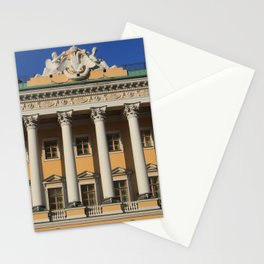 Saint-Petersburg Architecture. Building Facade with pillars. Stationery Cards