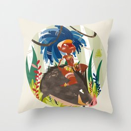 Caipora DIVA Throw Pillow