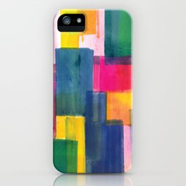Color Block Series: Rooftops iPhone Case