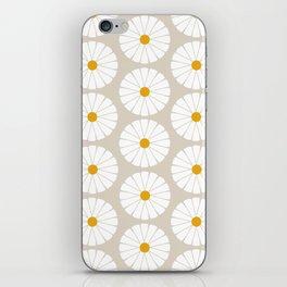 Minimal Botanical Pattern - Daisies iPhone Skin