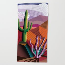 Black Canyon Desert Beach Towel