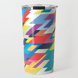 Layers Triangle Geometric Pattern Travel Mug
