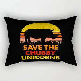 Save The Chubby Unicorns Rectangular Pillow