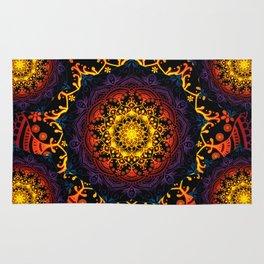 'Bohemian Summer' Multi-Coloured Mandala Rug