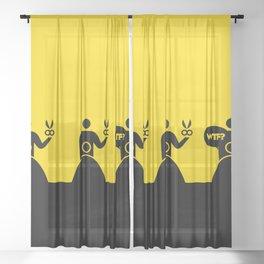 WTF? Peluqueria! Sheer Curtain