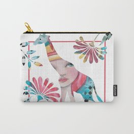 Whimsical Giraffe Carry-All Pouch