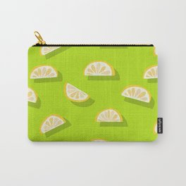 Slices of Orange - Pattern on Lime green Carry-All Pouch