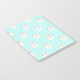 Lucky happy Japanese cat pattern Notebook