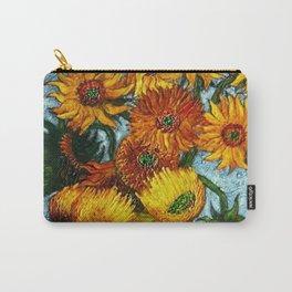 Sunflowers, Paris, in Vase portrait painting by Vincent van Gogh Carry-All Pouch