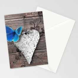Heart & butterfly | coeur et papillon Stationery Cards
