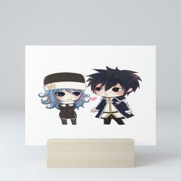 Gray and juvia Mini Art Print