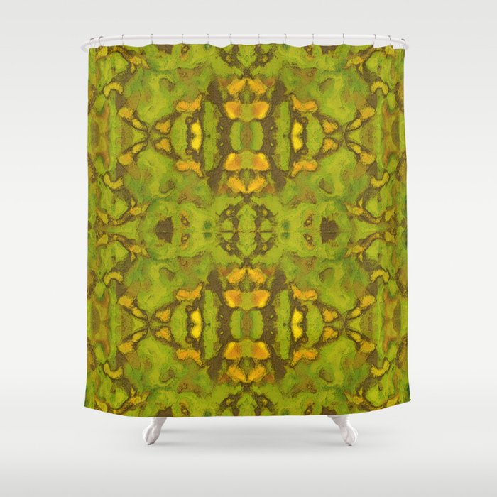 Ogrewood Batik Shower Curtain By Zenddenstudio