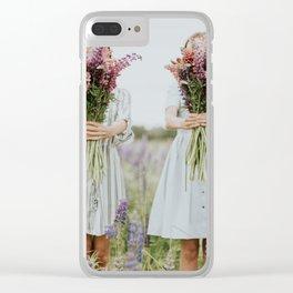 Lavander girls Clear iPhone Case