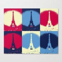 eiffel tower Canvas Prints featuring Eiffel Tower by Aloke Design