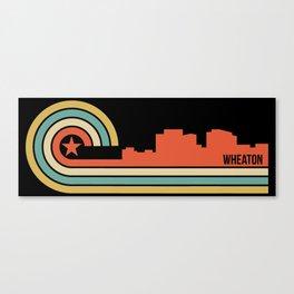 Retro Wheaton Maryland Skyline Canvas Print