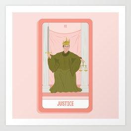 Tarot Card XI: (Supreme Court) Justice Art Print