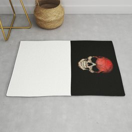 Dark Skull with Flag of Indonesia Rug