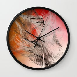 Mercury In Aries Cardinal Fire - #Abstract #Art #Illustration by Menega Sabidussi #society6 Wall Clock