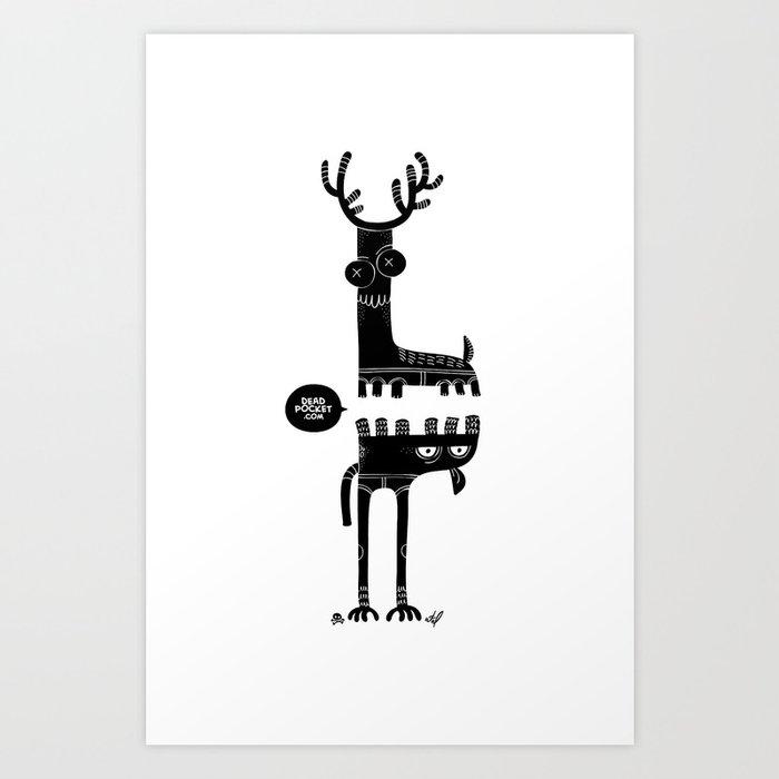 Two Beasts Art Print
