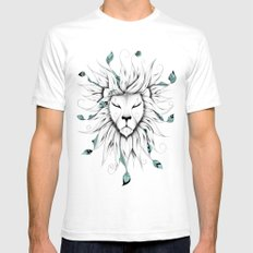 Poetic King Mens Fitted Tee SMALL White