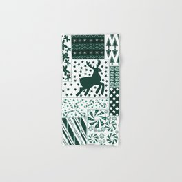 Holiday Green Quilt Design Hand & Bath Towel