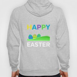 Happy Easter With Eggs And Crosses Pascha Holiday Hoody