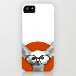 Fennec Fox wearing glasses iPhone Case