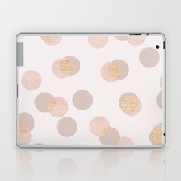 Rose Gold Dots Pattern Laptop & iPad Skin
