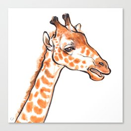 Zuri the Giraffe Canvas Print